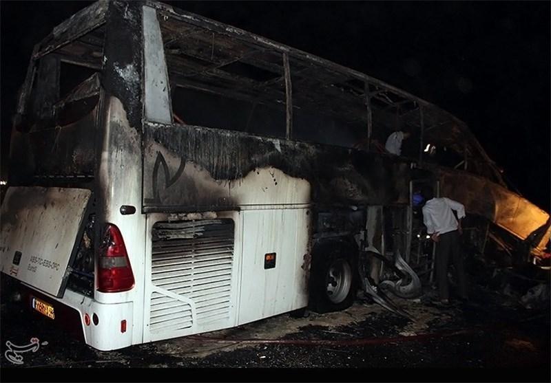 ۳ کشته و ۳۹ مصدوم در حادثه واژگونی اتوبوس در محور شهرضا- اصفهان