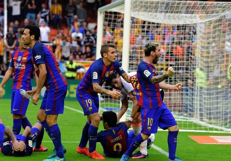 اهانت مسی به هواداران والنسیا پس از حمله آنها به نیمار و سوارز
