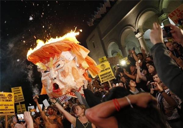 تداوم اعتراضات به نتیجه انتخابات آمریکا و آغاز بازداشت معترضان