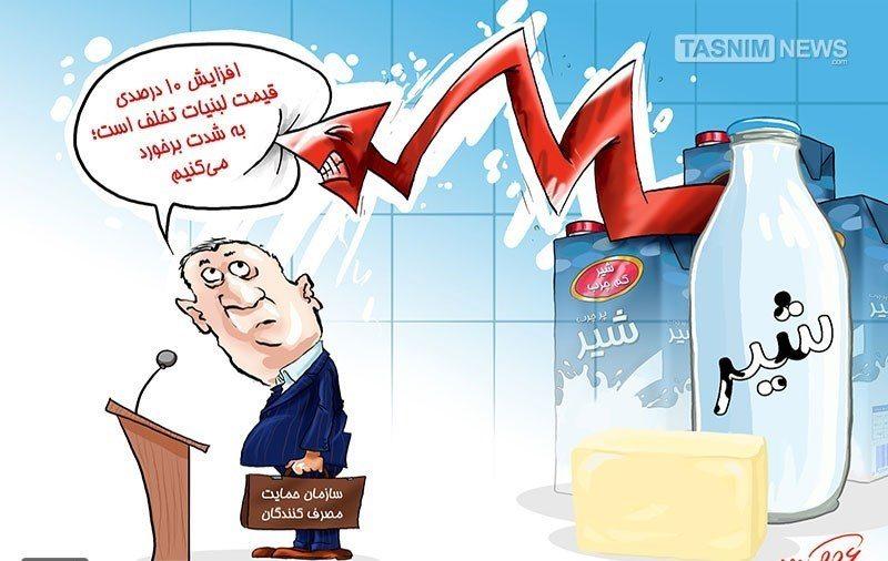 قیمت لبنیات در سامانه اطلاعرسانی قیمت کالا و خدمات بهحالت تعلیق در آمد+ اسناد