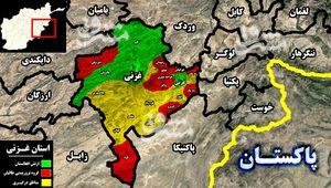 تدارک طالبان برای حمله مجدد به شهر غزنی/ سقوط شهرستان «بُلچراغ» در استان فاریاب + نقشه میدانی