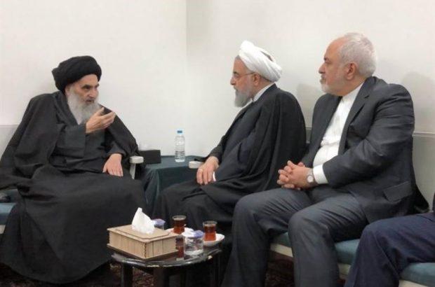 بیانیه دفتر آیت الله سیستانی درباره دیدار با روحانی؛ استقبال از روابط عراق با همسایگان