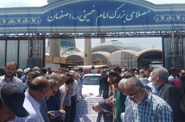 حمایت مردمی از برگزاری راهپیمایی روز قدس در میدان امام اصفهان