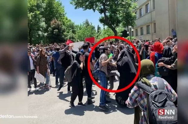 لگدپراکنی به دختر محجبه در دانشگاه تهران +واکنشها