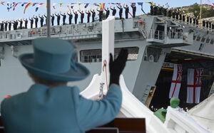 صف طولانی محافظان نفتکشها در مراکز تعمیراتی انگلستان/ ارتش بی غروب ملکه فقط ۱۰ شناور عملیاتی دارد! +عکس
