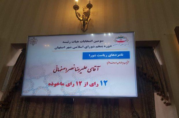 اختلافات در شورای شهر به تغییر رییس منجر شد/ علیرضا نصر اصفهانی رئیس شورای شهر اصفهان شد