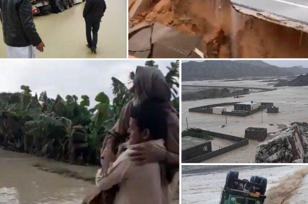 فیلم| تصاویر هوایی از آخرین وضعیت مناطق سیلزده بلوچستان/ ۵۰۰ روستا در محاصره سیلاب